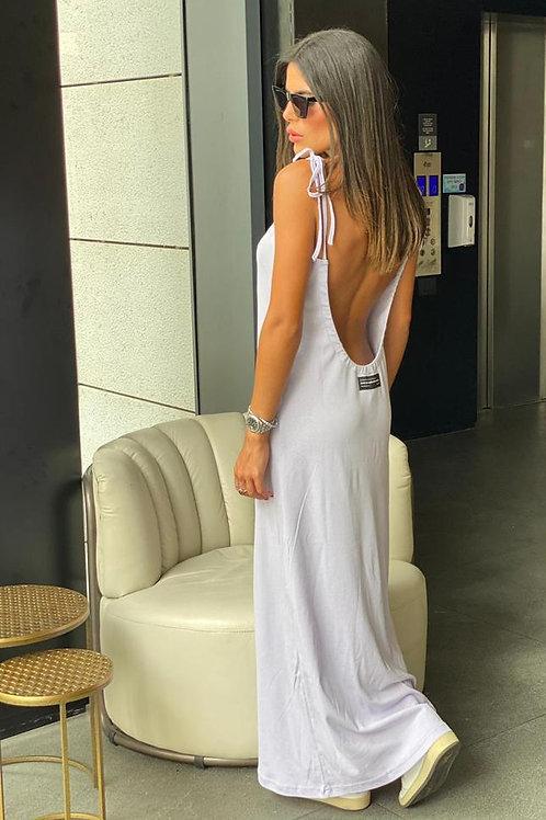 שמלת מקסי גב פתוח