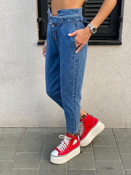 ג'ינס שילוב חגורה