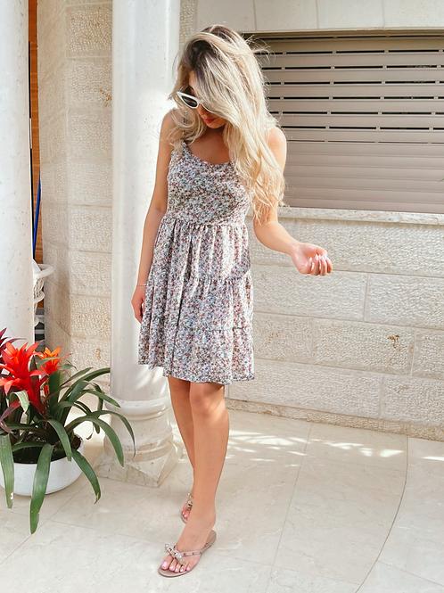 שמלה פרחונית גב פתוח