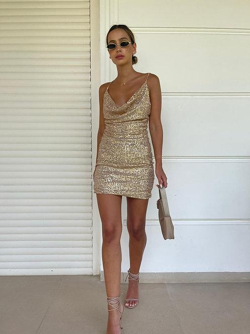 שמלת פייטים רבידה