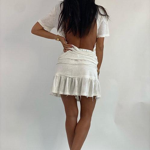 חליפת פשתן חצאית