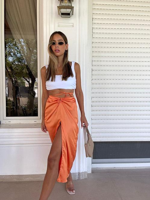 חצאית שסע קשירה