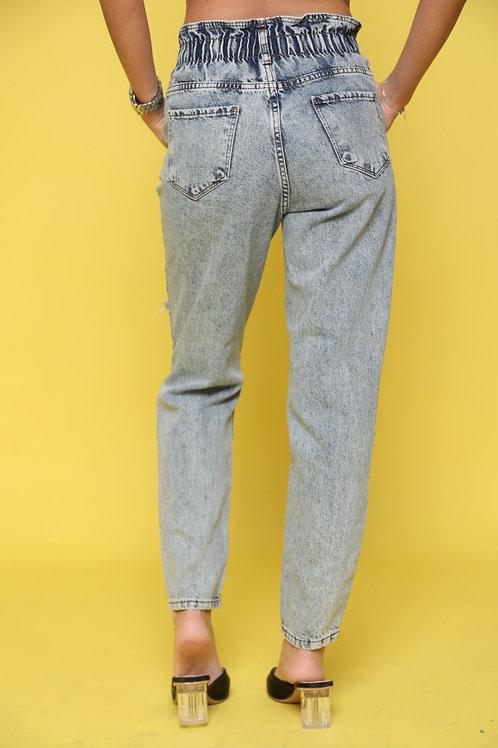 ג'ינס גומי קרעים