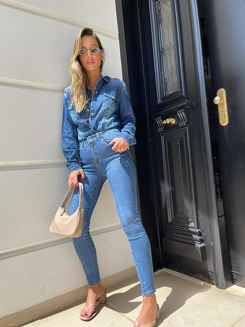 ג'ינס לייקרה קלאסי