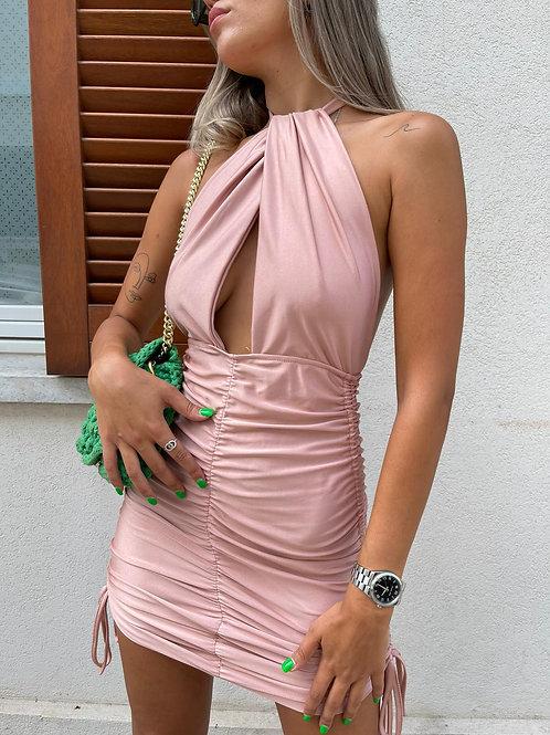 שמלת מחשוף קשירה