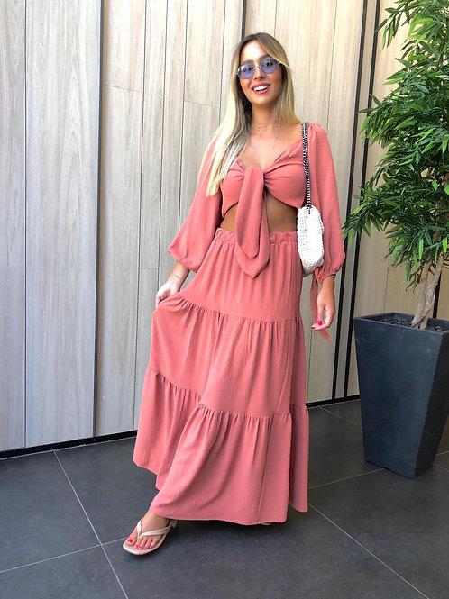 חליפת חצאית מקסי