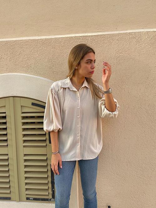 חולצה מכופתרת גומי