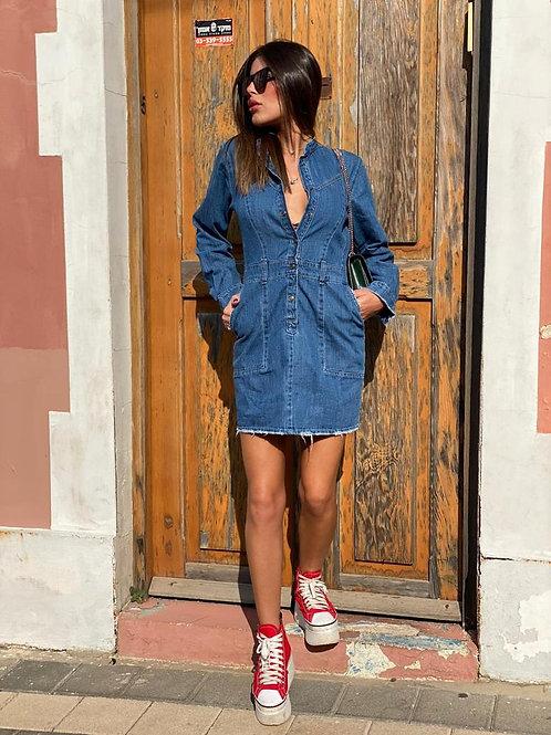 שמלת ג'ינס חברת 101