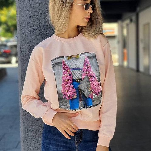 חולצה הדפס אישה