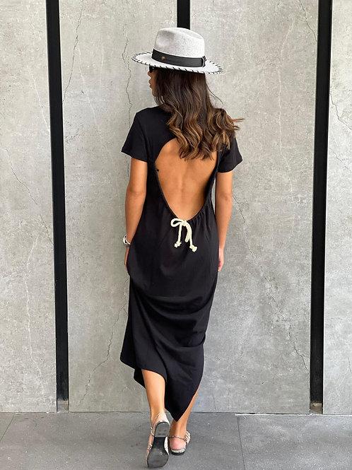 שמלת מקסי מחשוף בגב