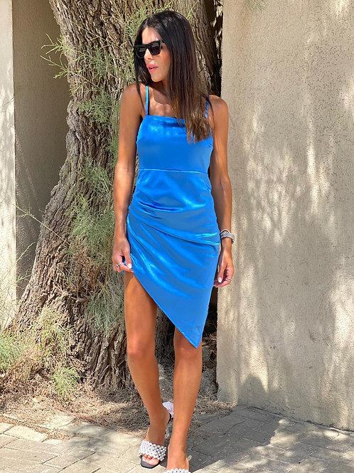 שמלה סאטן אלכסון