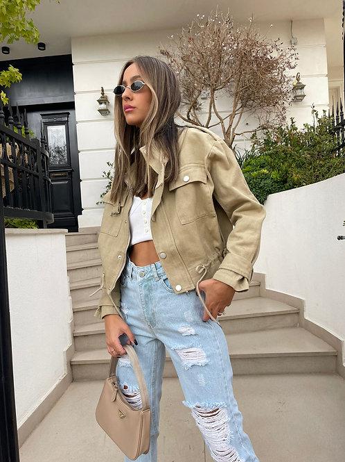 ג'קט ג'ינס צבעוני