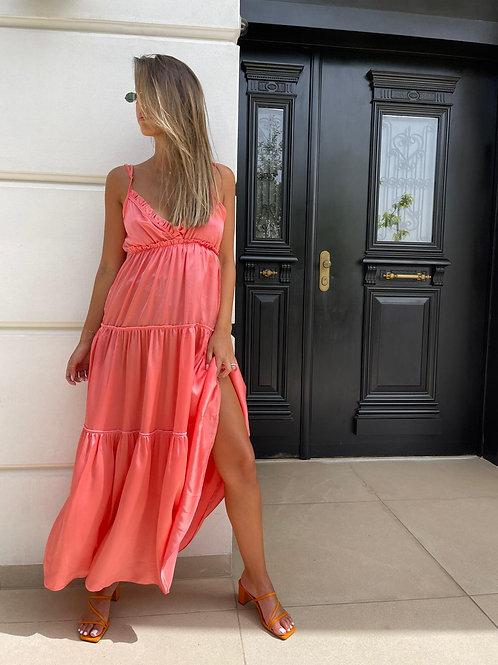 שמלה מקסי סאטן קומות