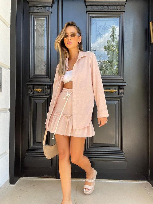 חליפת חצאית מלמלה