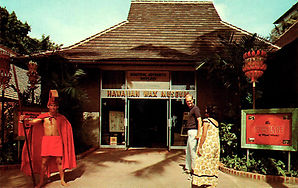 Hawaiian Wax Museum Entrance postcard