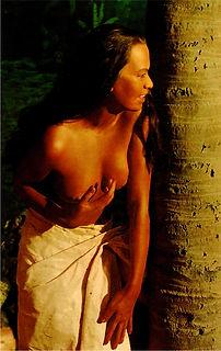Hawaiian wahine postcard