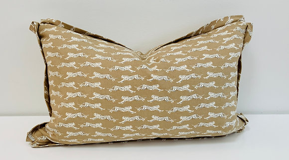 14 x 22 Pillow - Schumacher Leaping Leopards in Sand