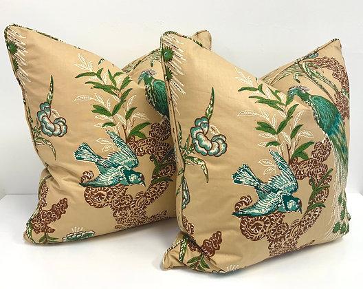 """22"""" Pillow - Schumacher Peacock Pillow"""