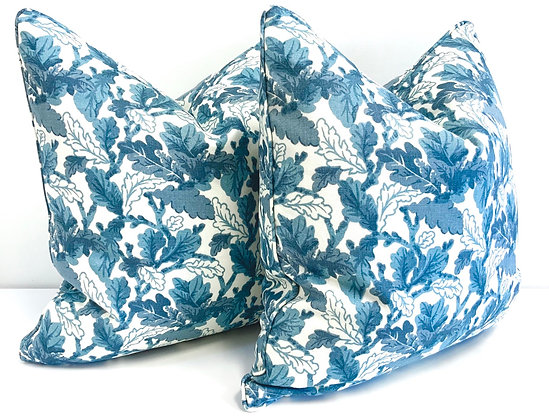 "20"" Sister Parrish Waldingfield Blue pillow"