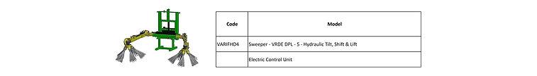 Stagric- Sweeper - VRDE DPL - 5 - Hydrau