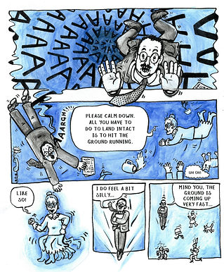 A prism of humour etched into a gloriously graphic novel