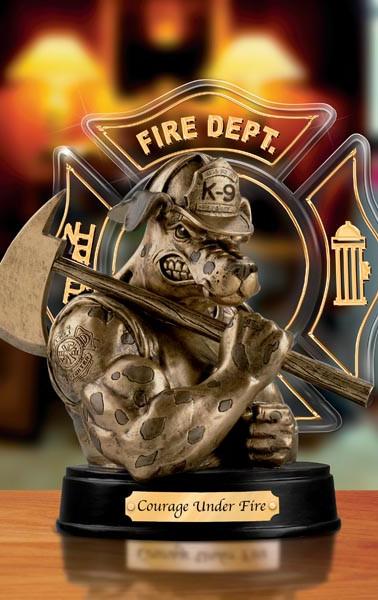 Firefighter Tabletop Mascot