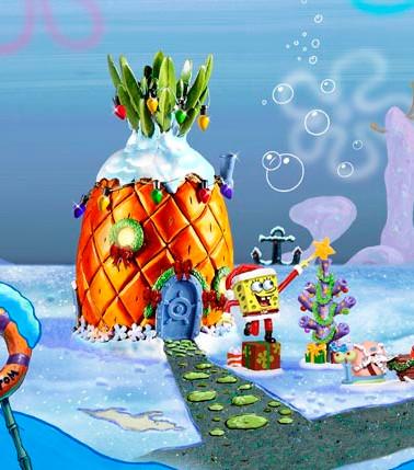Spongebob Christmas Village