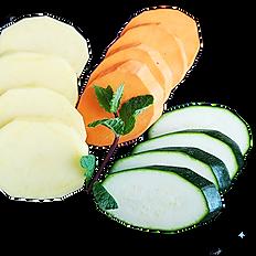 Grelhados de vegetais coloridos