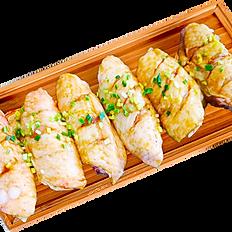 Asas de frango marinado