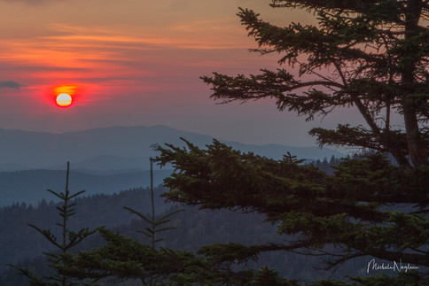 Clingman's Dome Setting Sun