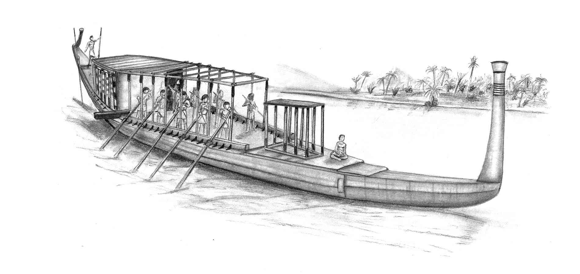 Barca Solar egipcia