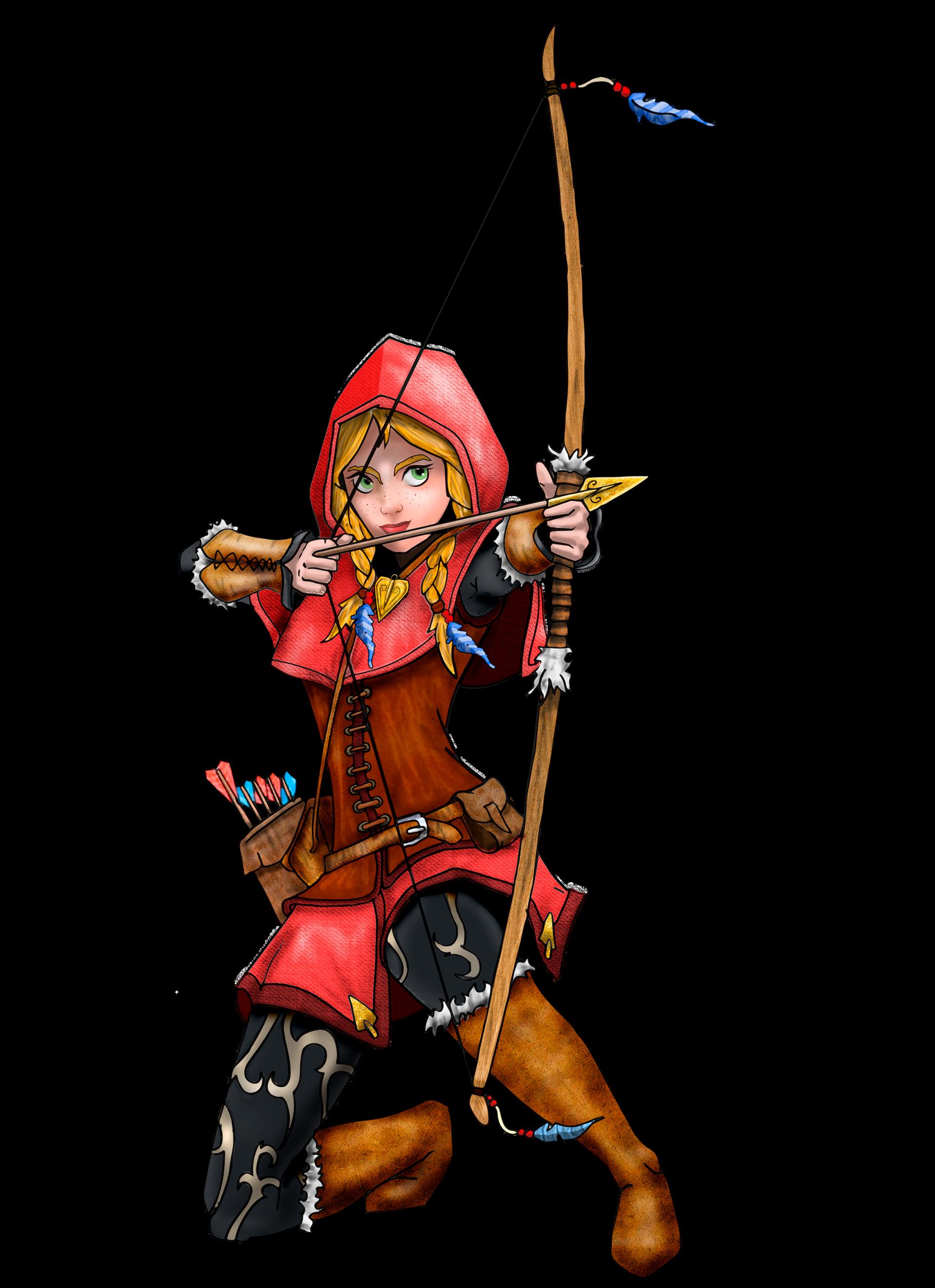 Caperucita roja con arco mágico