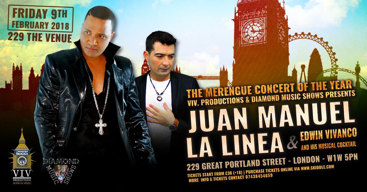 Flyer Concierto Latino en Londres