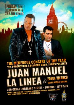 Cartel Concierto Latino en Londres