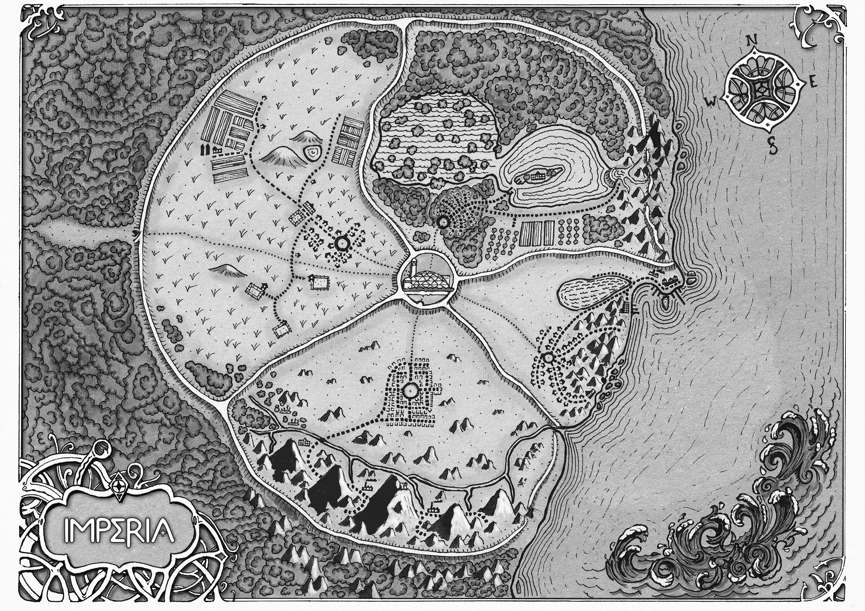 Mapa limpio Imperia