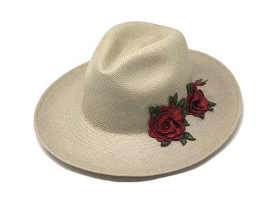 Ene Rose Panama Hat