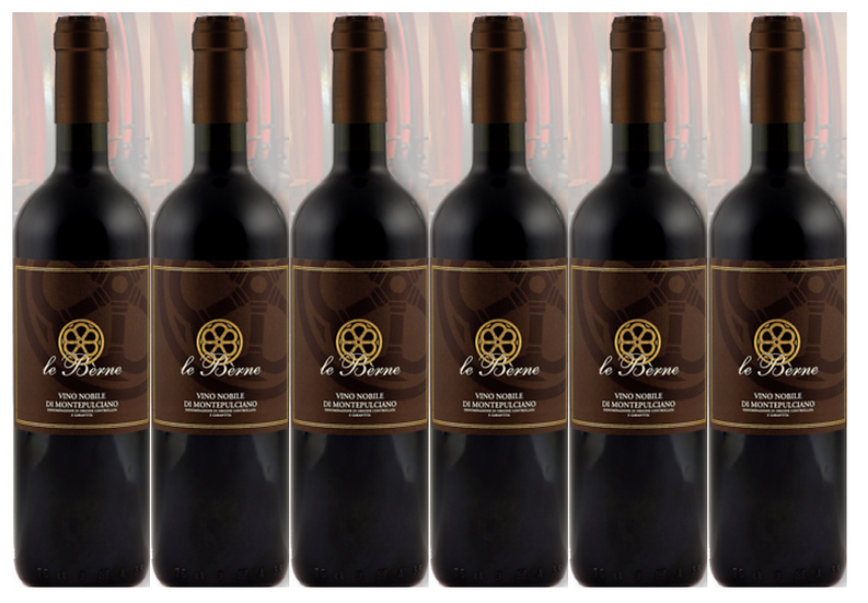 NOBILE DI MONTEPULCIANO 2017 0.75L - 6 bottles - Le Berne - 18.7€/bottle