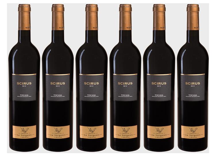 SCIRUS SUPERTUSCAN -  2013 0.75L - 6 bottles - Le Sorgenti -29,67€/bottle