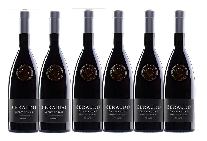 GRAYASUSI ARGENTO ROSATO 2018 0.75L -6 bottles - CERAUDO - 21.7€/bottle