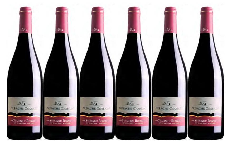 SUSSINKU ROSSO 2017 0.75L - 6 bottles - NAURAGHE CRABIONI -12,5€/bottle