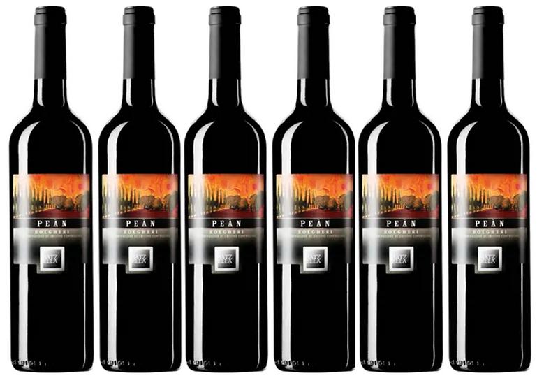 PEAN BOLGHERI 2016 0.75L - 6 bottles - Batzella -18,83€/bottle