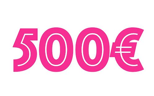 500€ VOUCHER