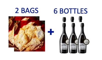 2 bags of handmade Chiacchiere + 26 bottles of PROSECCO DOCG BRUT