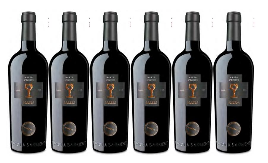 NERIO  RISERVA 2017 0.75L - 6 bottles - Schola Sarmenti - 13,5€/bottle5