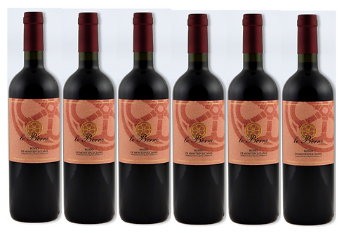 ROSSO DI MONTEPULCIANO 2018 0.75L - 6 bottles - Le Berne -11.8€/bottle