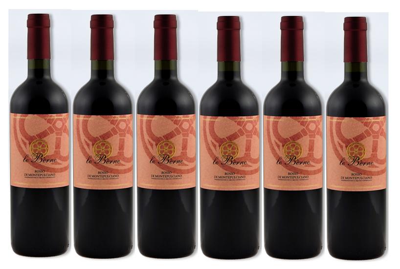 ROSSO DI MONTEPULCIANO 2018 0.75L - 6 bottles - Le Berne -10,67€/bottle