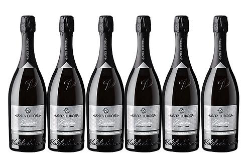 PROSECCO BRUT DOCG -  2019 0.75L - 6 bottles -Santaeurosia 13,8€/bottle