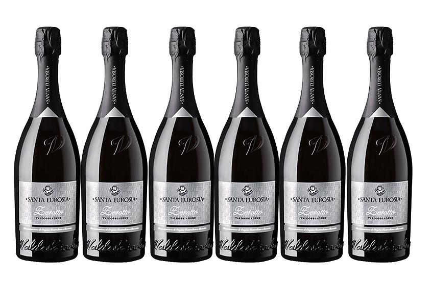 PROSECCO BRUT DOCG -  2018 0.75L - 6 bottles -Santaeurosia 12,5€/bottle