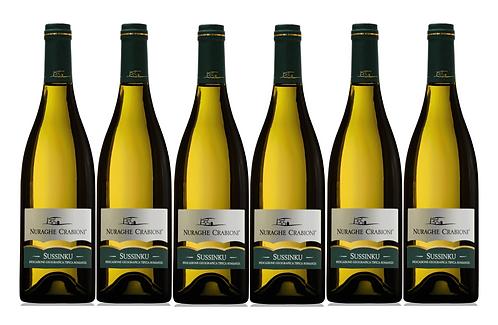 SUSSINKU BIANCO  2018 0.75L - 6 bottles - NAURAGHE CRABIONI -14.8€/bottle