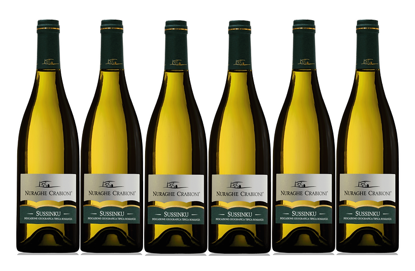 SUSSINKU BIANCO  2018 0.75L - 6 bottles - NAURAGHE CRABIONI -13,5€/bottle
